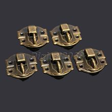 New 12Pcs Antique Bronze Iron Latch Decorative Jewelry Gift Wine Wooden Box Suitcase Case Hasp Latch Hook With Screws 27x29mm