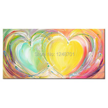 modern art painting  abstract contemporary painting  wall decoration heart picture