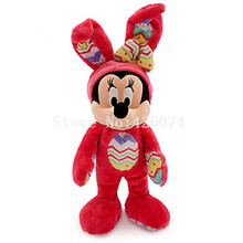 New Minnie Easter Bunny Stuffed Animals For Girls Kids Plush Toys For Children Gifts 38CM(China)