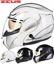 2016 New ZUSE dual lens undrape face motorcycle helmet ABS safety combination motorbike open face helmets Four Seasons ZS-3000A