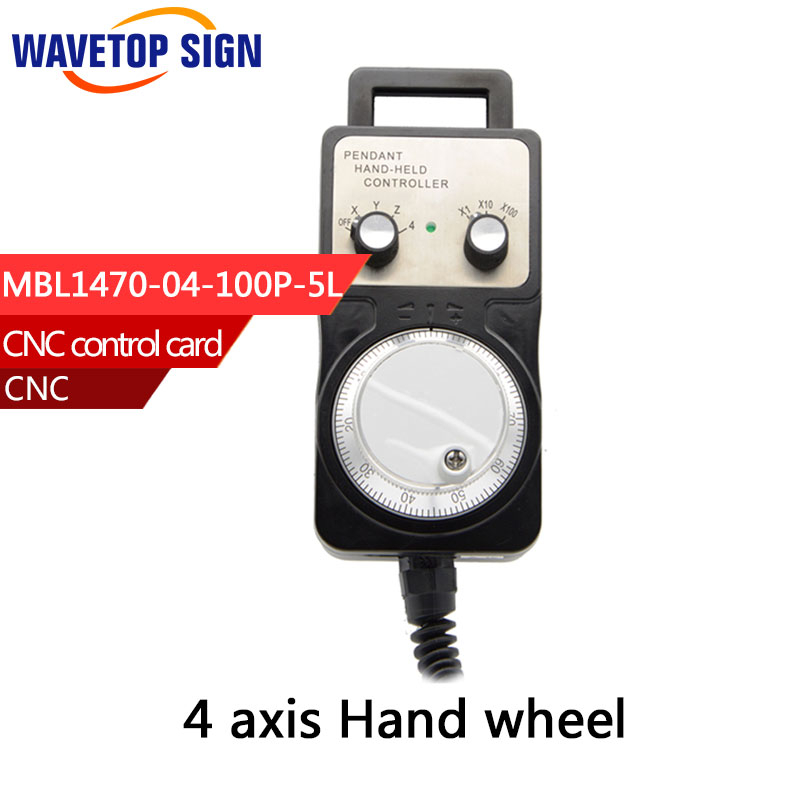 5v12v24v Best price 4 Axis Pendant Handwheel manual pulse generator MPG for Siemens, MITSUBISHI, FANUC etc<br>