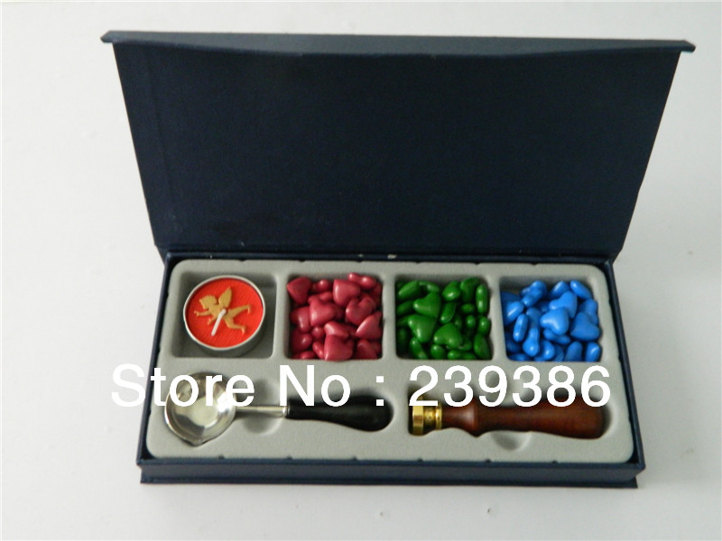 Christmas Gift Set Series,Luxury traditional office stamp set,personally sealing wax gift,stamp/seal wax<br>