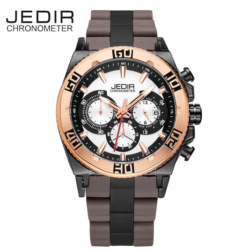 JEDIR Military Watch Men Silicone Mens Watches Top Brand Luxury Sport Quartz Wristwatches Clock Men Auto Date Relogio Masculino<br>