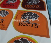 customized self adhesive beer bottle product labels ! NO MOQ !(China)