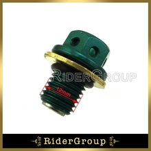 Magnetic Oil Drain Green Bolt Plug For 50cc-160cc Chinese Lifan YX Zongshen Engine Pit Dirt Bike ATV Quad(China)