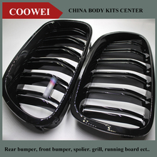 For BMW F10 5 Series 520i 523i 525i 530i 535i 2010+ Glossy Black Dual Slat M5 Style Front Kidney Grille Grill Wholesale