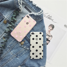 Buy Cute Polka Dots clear TPU phone Cases iphone 7 7Plus 8 8plus Soft TPU Case iphone 6 6s 6plus 6splus phone back cover for $2.54 in AliExpress store