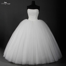 Cheap Lace Vintage Wedding Dress Ball Gown Made In China 2016 Real Photo Custom Plus Size Tulle Bridal Gown In Stock RSW900