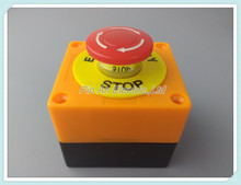 AC 660V 10A Plastic Shell Red Sign Emergency Stop Mushroom Push Button Switch(China)