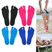 Sticker Shoes Stick on Soles Sticky Pads for Feet Beach Sock Waterproof Hypoallergenic Adhesive Pad for Walking Freely Anti-Slip(China)