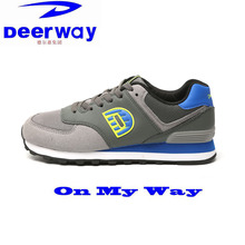Deerway outdoor running shoes men light mesh breathable cushioning EVE insole air max cow muscle sole men's sneakers sport shoes