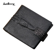 2018 New arrival brand short crocodile men's wallet leather quality guaranteecard purse for male vintage wallet coin purse(China)