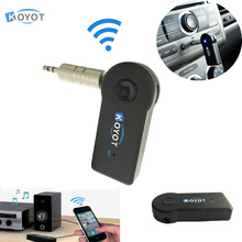 KOYOT Car Wireless Bluetooth Receiver Speaker Headphone Adapter 3.5MM Audio Stereo Music Receiver Home Hands-free Bluetooth Plug