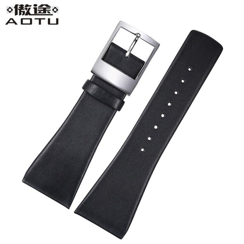 Genuine Leather Watch Straps For CALVIN KLEIN ck K0Q21107 KOQ21120 Men Watchbands 28MM Leather Clock Bracelet Belt Saat Band<br>