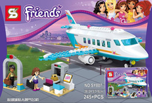 SY807 245pcs Friends Heartlake Private Jet Building Kit blocks best self-locking toys for girls With 41100(China)