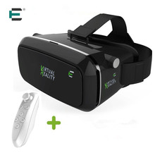 Original ET Brand Google cardboard VR BOX with remote Headphone VR Virtual Reality 3D Glasses For 4.7 - 6.2 inch Smartphone