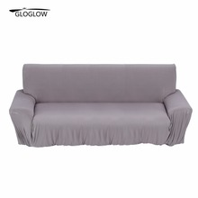 1/2/3 Seat Sofa Cover New Slipcover Stretchable Pure Color Polyester Fiber Sofa Cushion Washable Home/Office/Hotel Sofa Covers(China)