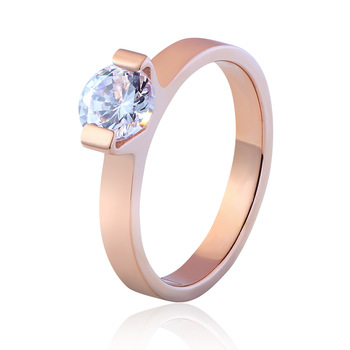 New Design Size 4 To 10 Multi Faceted AAA Zircon Stainless Steel Ring Wedding Jewelry Ring Best Gift For Women And Girls