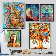 5D Diamond Embroidery Color Abstract Illustration Full Rhinestone Diamond Painting Mosaic Picture Woman And Animal Cross Stitch