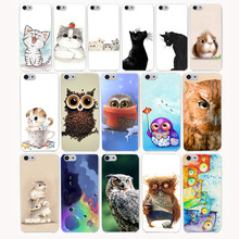 2835CA Cute Cat Owl Animal Hard Transparent Case Cover for iPhone 7 7 plus 4 4s 5 5s 5c SE 6 6s Plus case cover