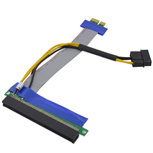 CHIPAL Soft PCI-E Riser Card PCI Express Extender 1X to 16X Extension Cable Ribbon with Molex Power Supply for BTC LTC Miner(China)