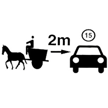 20cm*8.3cm Horse And Cart Gap Interesting Car Sticker Car-styling Black/Silver Car Accessories S6-2884(China)