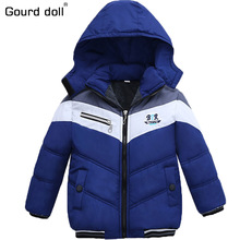 3 colors !!! Boys Jacket winter coat Children's outerwear Super warm winter style baby boy Girls Warm Coat Clothes for 2-6 yrs(China)