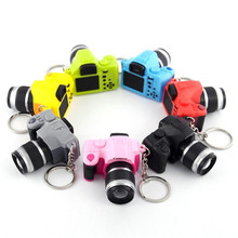 7 colors Key Chains OTOKY 2017 Newly Cute Mini Toy Camera Charm Keychain With Flash Light&Sound Gift Dropshipping JU17(China)