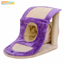 High Quality Cat Toy Scratching Post with Tunnel  Natural Sisal Interactive Kitten Love Climbing Jumping Frame Cat Furniture
