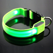 Nylon Pet LED Dog Collar Night Safety LED Flashing Pet Supplies Dog Cat Collar Small Designer Products for Dogs Collars(China)