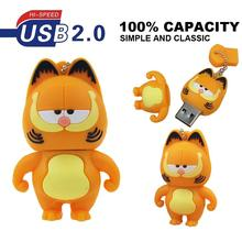 Pen Drive Garfield cat Sleepy 4GB 8GB 16GB 32GB 64GB Usb Flash Drive memory stick Pendrive Pendriver mini gift