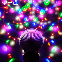 YNL LED Lamp Crystal Stage Light RGB 6W E27 Colorful Magic crystal Ball DJ Disco Party KTV Home effect Bulb Auto Rotating Lamp(China)