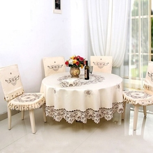 European classical openwork embroidery Round table cloth home hotel wedding Home Table Textile Decoration