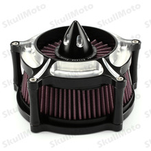 Motorcycle Bike Accessories Contrast Cut Turbine Air Cleaner Filter For Harley Sportster XL883 XL1200 1991 1992 1993-2015 2016