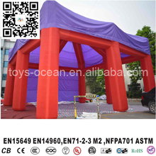 Cube promotional event inflatable red square tent with 8 legs