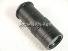 Industry Lens 8X -130X Magnification Adjustable 25mm Zoom C-mount Lens Glass for Industry Microscope Camera Eyepiece Magnifier
