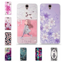 Luxury Cases for funda Lenovo Vibe S1 Cover vibe s1 Case 3D Flower Soft Silicon TPU for Lenovo Vibe S1 S 1 Phone Back Cover Case