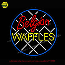 Belgian Waffles Neon Sign Handcrafted Neon Bulb GlassTube Club Decorate restaurant sign Store Display Light Sign bud light 26x26(China)