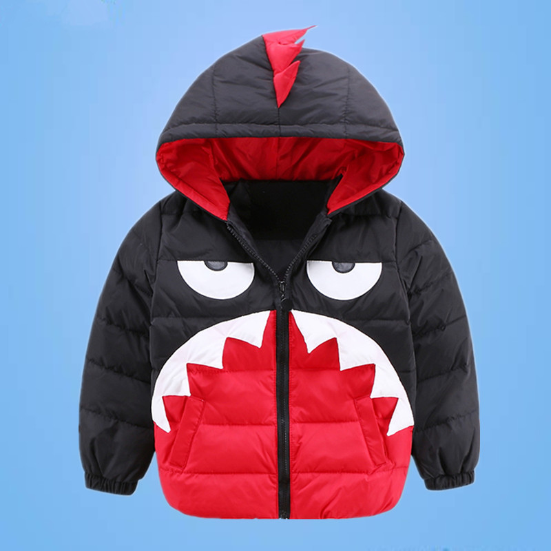 2017 New childrens cartoon monster jacket fashion girls boys hooded down coat winter high grade kids warm outwear 16A12Одежда и ак�е��уары<br><br><br>Aliexpress