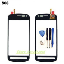 Original High Quality For Nokia PureView 808 Touch Screen Digitizer Sensor Front Glass Lens panel + tools