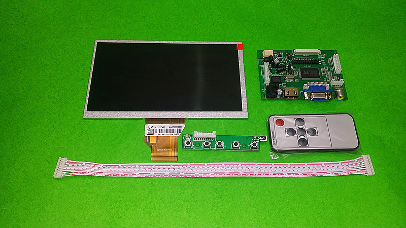 for INNOLUX 7.0 inch Raspberry Pi LCD Display Screen TFT LCD Monitor AT070TN92 + Kit HDMI VGA Input Driver Board Free Shipping<br>