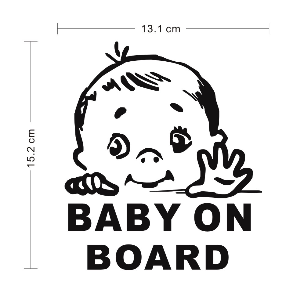 Cunymagos Lovely Child BABY ON BOARD Safety Sign Car Stickers And Decal Vinyl Car Styling Auto Motorcycle Stickers 13.115 (2)