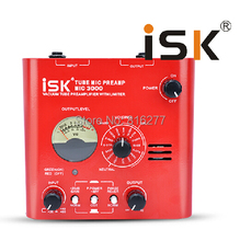 ISK MIC3000 Professional Vacuum tube preamp microphone amplifier 48V Phantom Power for recording studio multi Mode Switch