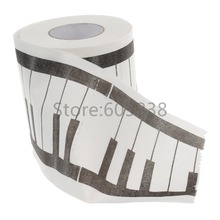 12Pieces Piano Keyboard Toilet Paper / Printed Napkin Paper / home toilrt tissue