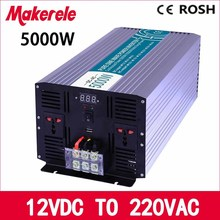 MKP5000-122 5000w inverter off grid pure sine wave 12v to 220v voltage converter,solar inverter LED Display inversor