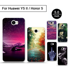 "3D Drawing Case For Huawei Y5 II Cover Luxury Printing Soft Tpu Phone Bags Case For Huawei Y5II 5.0"" Phone Funda Shell Coque Gel(China)"