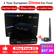 Satellite TV Receiver Satellite Receivers tv receptor freesat V8 Super FTA DVB-S2 support Biss Key newcam 3G IPTV Youporn+1 year(China)