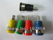 Binding Post Banana Jack for 4mm Safety protection Plug 5 colors SL2075 10 Pcs Per Lot Brand New Hot Sale