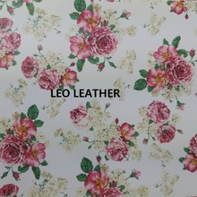 91CM X137CM Printed ROSE Flowers, Leather Fabirc Fabric for Sewing, Diy Fabric Pu Leather DIY, Leather PU Fabric, Textile P51