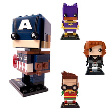 2018 LOZ Mini Blocks Big Heads Action Figure Toys Super Heroes Building Blocks Toys Children Superheroes Brick Heroes DIY